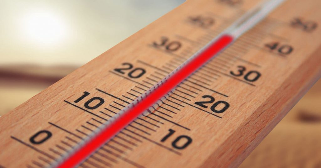 Manual Thermometer showing scales