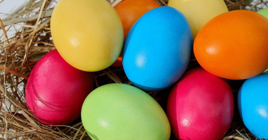 Colorful Eggs with different sizes